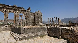 Basílica e Templo Capitolino Volubilis 1