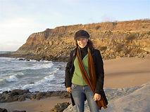 A autora Mafalda Moutinho na praia de Paimogo.jpg