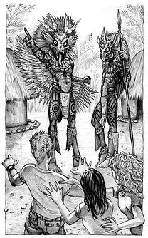 8 - Sacerdote maia e ajudante com Primos