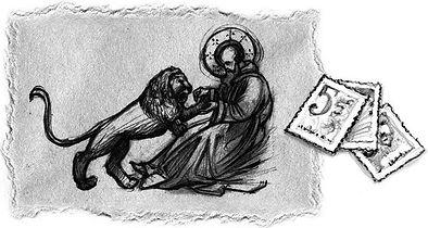 S. Jerónimo e o Leão com selos.JPG