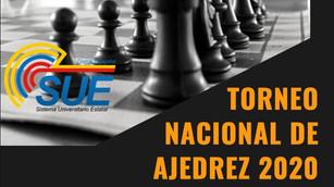 """INVITACIÓN - PRIMER TORNEO DE AJEDREZ VIRTUAL NACIONAL """"SUE"""" 2020"""