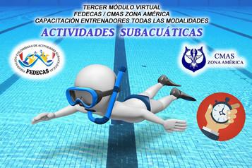 TERCER MÓDULO VIRTUAL CAPACITACIÓN ENTRENADORES DE ACTIVIDADES SUBACUÁTICAS FEDECAS / CMAS ZONA AMÉR