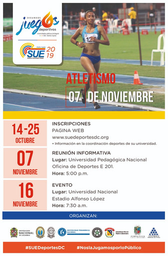 TORNEO UNIVERSITARIO DE ATLETISMO SUE 2019