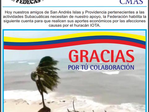 APOYO A NUESTROS AMIGOS DE SAN ANDRES ISLAS Y PROVIDENCIA