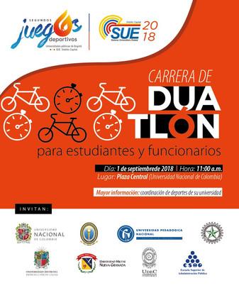 """INVITACIÓN - CARRERA DUATLÓN """"SUE"""" PARA ESTUDIANTES Y FUNCIONARIOS"""