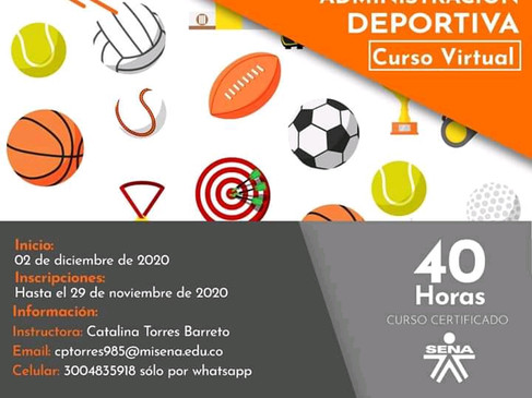 INVITACIÓN 40 HORAS - ELEMENTOS PARA LA ADMINISTARCIÓN DEPORTIVA