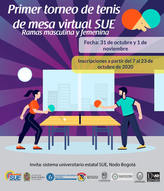 "TORNEO DE TENIS DE MESA VIRTUAL ""SUE"" 2020"