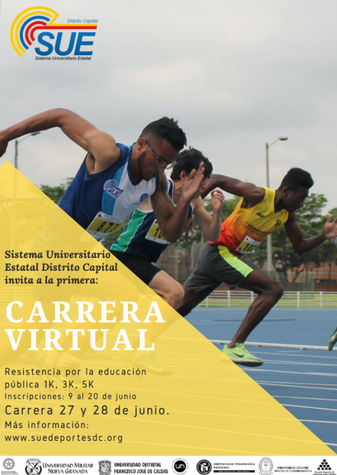 INVITACIÓN - PRIMERA CARRERA ATLÉTICA VIRTUAL NACIONAL SUE 2020
