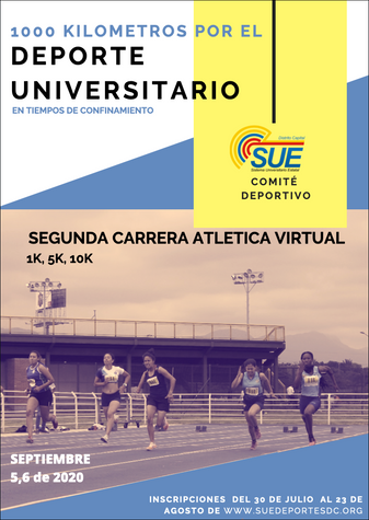 "INVITACIÓN - SEGUNDA CARRERA ATLÉTICA VIRTUAL NACIONAL ""SUE"" 2020"