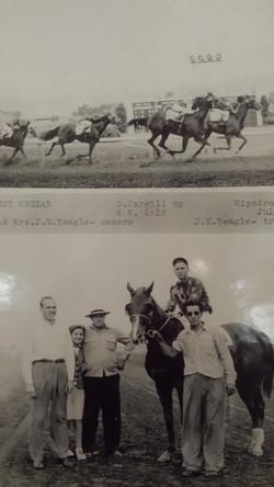 Kerrie's Grandpa as jockey