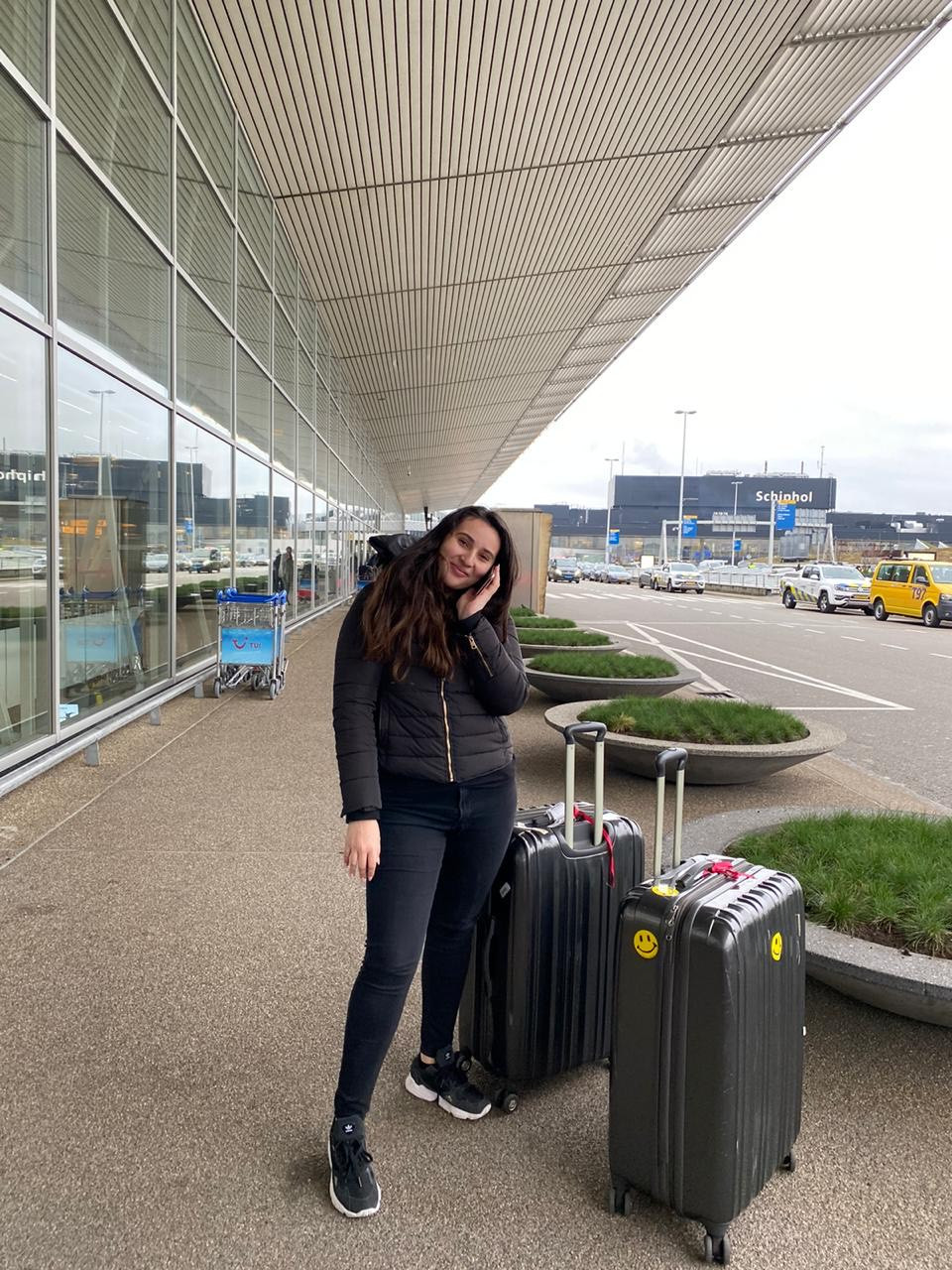 Me outside Schiphol