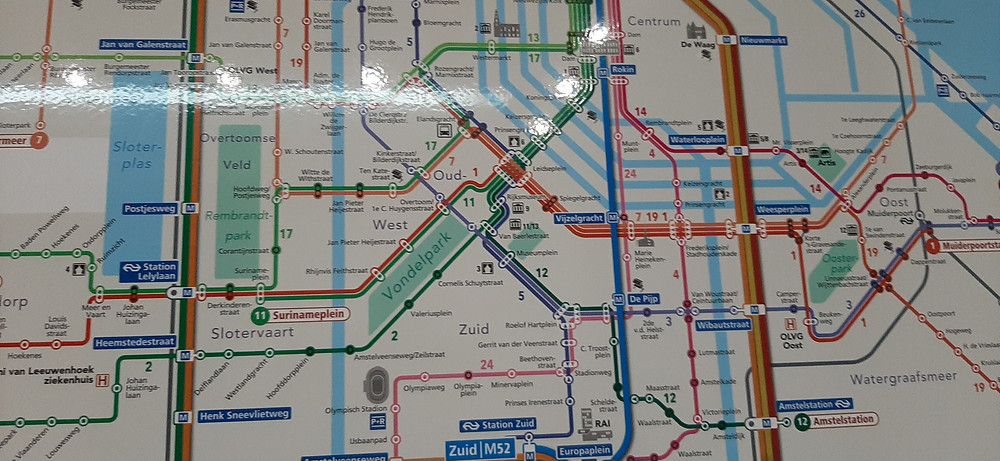 Public transport map is overwhelming