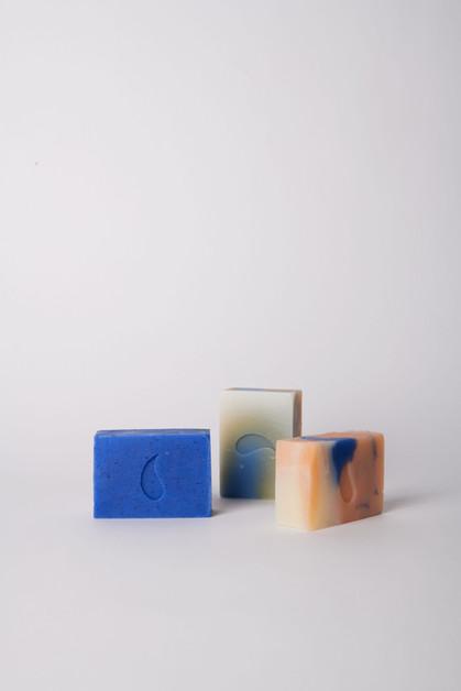 small soaps, 90 g; lavender, rose, cedar-madarin