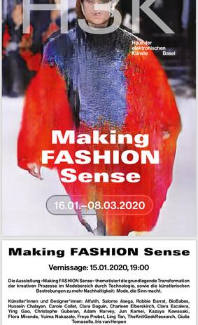 Making FASHION Sense 2020, House of electronic Arts Basel