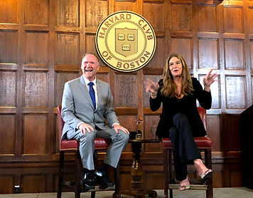 Caitlyn Jenner and Jeff Peoples at Harva