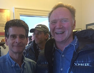 Jeff Peoples of Window Book with Dean Kamen, multiple award-winning inventor of the Segway PT, iBot Wheelchair, and the first drug infusion pump.