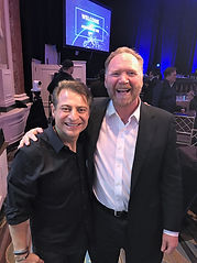 Jeff Peoples of Window Book and With Dr. Peter H. Diamandis at the Abundance 360 Summit in Los Angeles, CA.