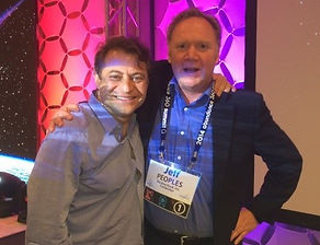 """Jeff Peoples of Window Book With Dr. Peter H. Diamandis, international pioneer in the fields of innovation, incentive competitions and commercial space.  Named one of """"The World's 50 Greatest Leaders""""  by Fortune Magazine."""