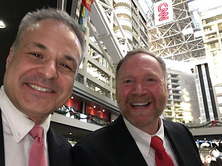 Jeff Peoples of Window Book With Clint Arthur, Leadership & Performance Expert and CEO of Status Factory, at CNN Center in Atlanta.