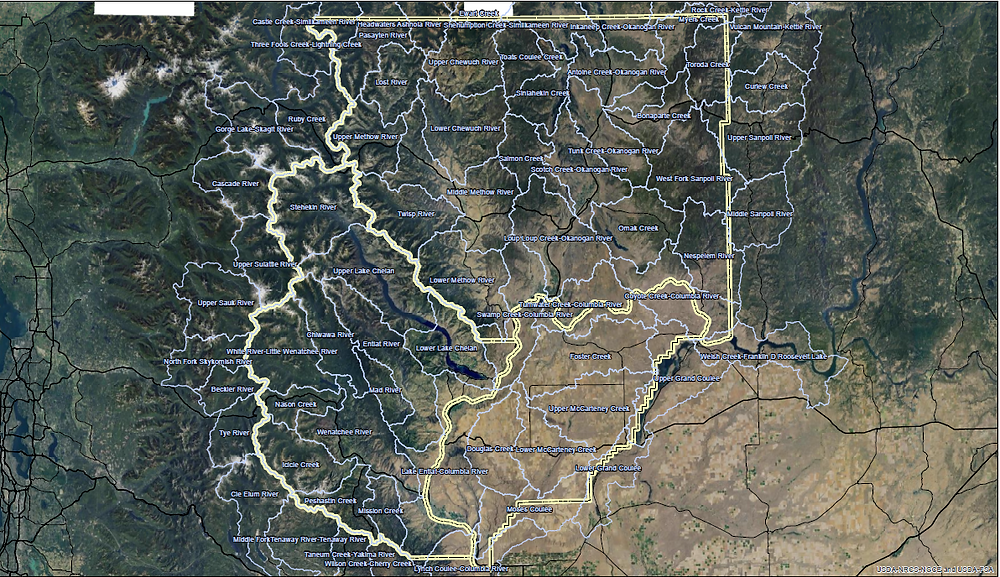 Watersheds map