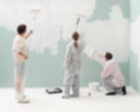 Schilders Verfen muur wit
