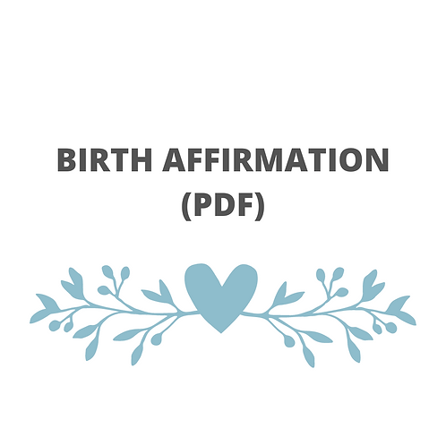 PRINTABLE POSITIVE BIRTH AFFIRMATION CARDS