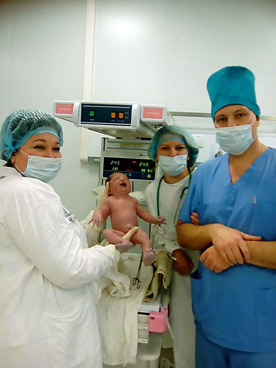 первый новорожденный в перинатальном центре