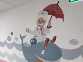 Художественная роспись  лечебных отделений педиатрического корпуса