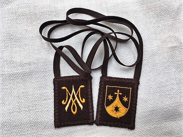 Mantle Of Mary, Brown Woven Wool Scapular, (1.5 x 2) or (2 x 2.5) Sizes