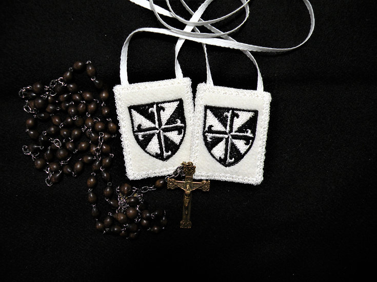 Dominican Scapular* 100 % White Woven Wool