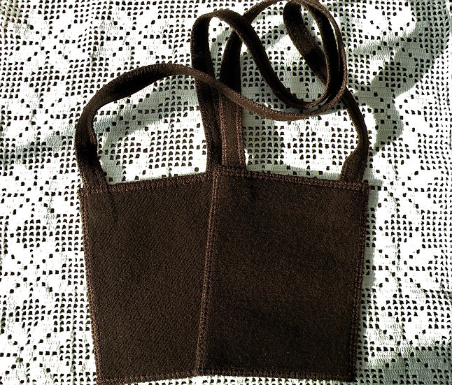 Mantle Of Mary Plain Brown or Black Scapular, 100% Woven Wool, Garment of Grace