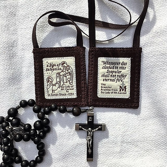 (#17a) Brown Scapular of Our Lady of Mount Carmel