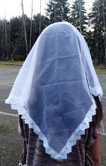 Chapel Veil - Small, White