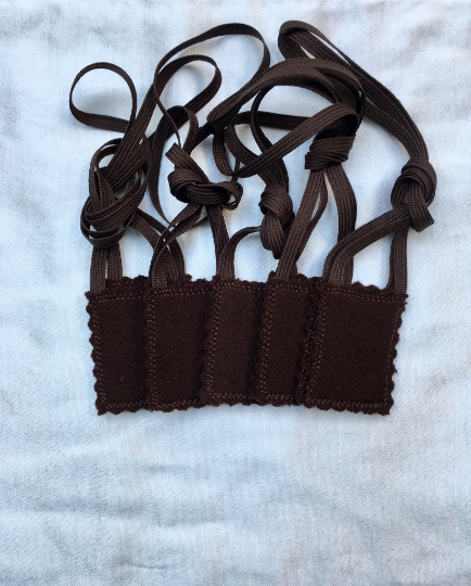Brown Scapular Double Woven Wool Panels (1.5 x 2 size) Without Design