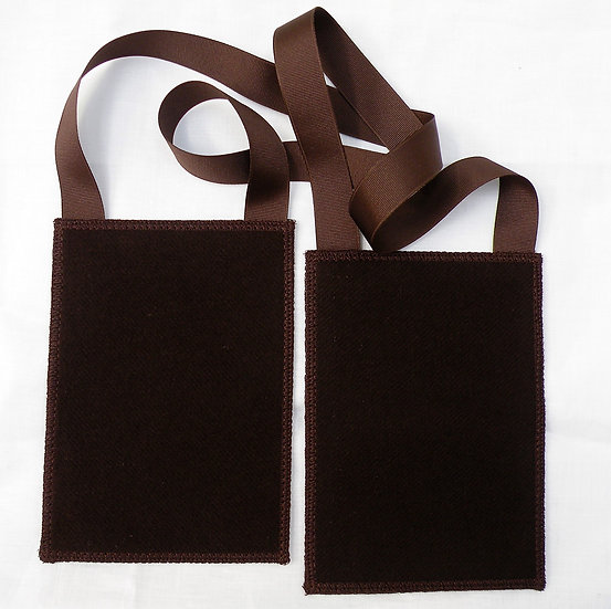 Larger Brown Scapular, 100% Woven Wool Garment of Grace