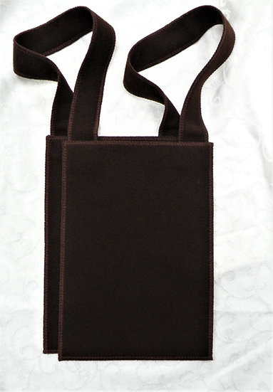 Brown Scapular, Large 7 x 9 with Matching Custom Made Wool Straps