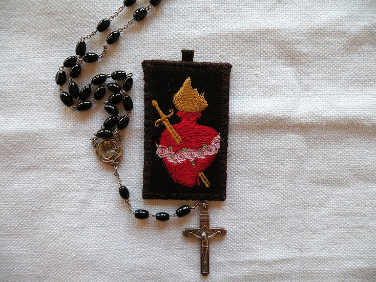Sacred and Immaculate Heart Badge