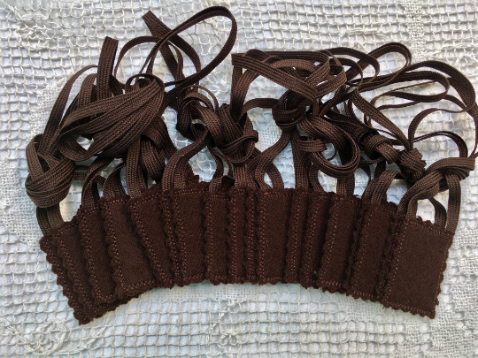 7 Brown Scapulars Double Woven Wool Panels (1.5 x 2 size) Without Design