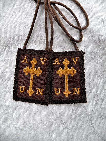 Apostoli Viae Brown Scapular by Mantle Of Mary