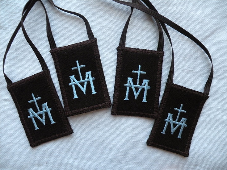Brown Woven Wool Scapular, (1.5 x 2 or 2 x 2.5 inch panels)