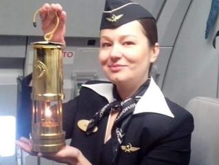 Полёт Благодатного Огня в Россию