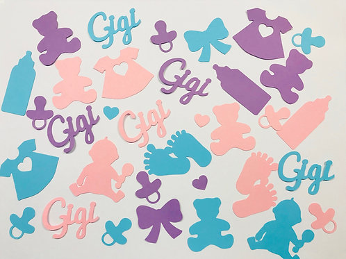 It's A Girl Baby Shower Confetti Mix