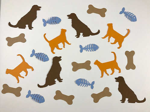Kitty Cat and Puppy Dogs Confetti