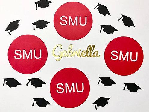 Grad Circles Custom Graduation Confetti
