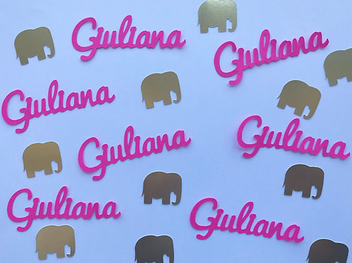 Personalized Elephant Confetti