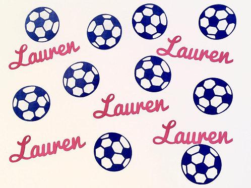 Personalized Soccer Confetti