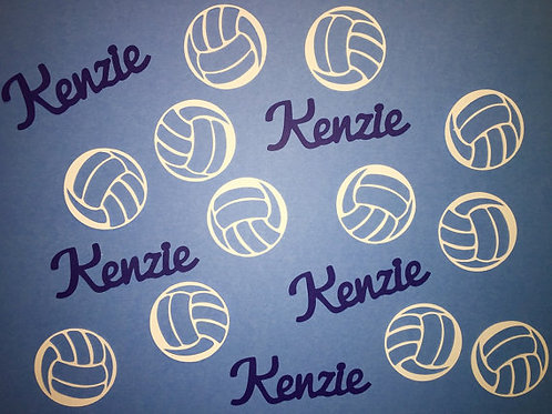 Custom Volleyball Confetti