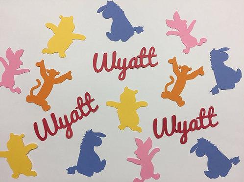 Personalized Winnie the Pooh Confetti