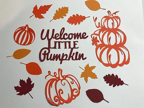 Welcome Little Pumpkin Baby Shower Confetti