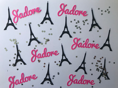 Personalized Paris Confetti